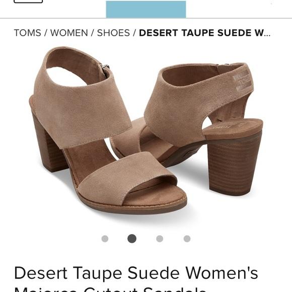 fa53b217e1 Toms Shoes | New Majorca Cut Out Sandal Desert Taupe 8 12 | Poshmark